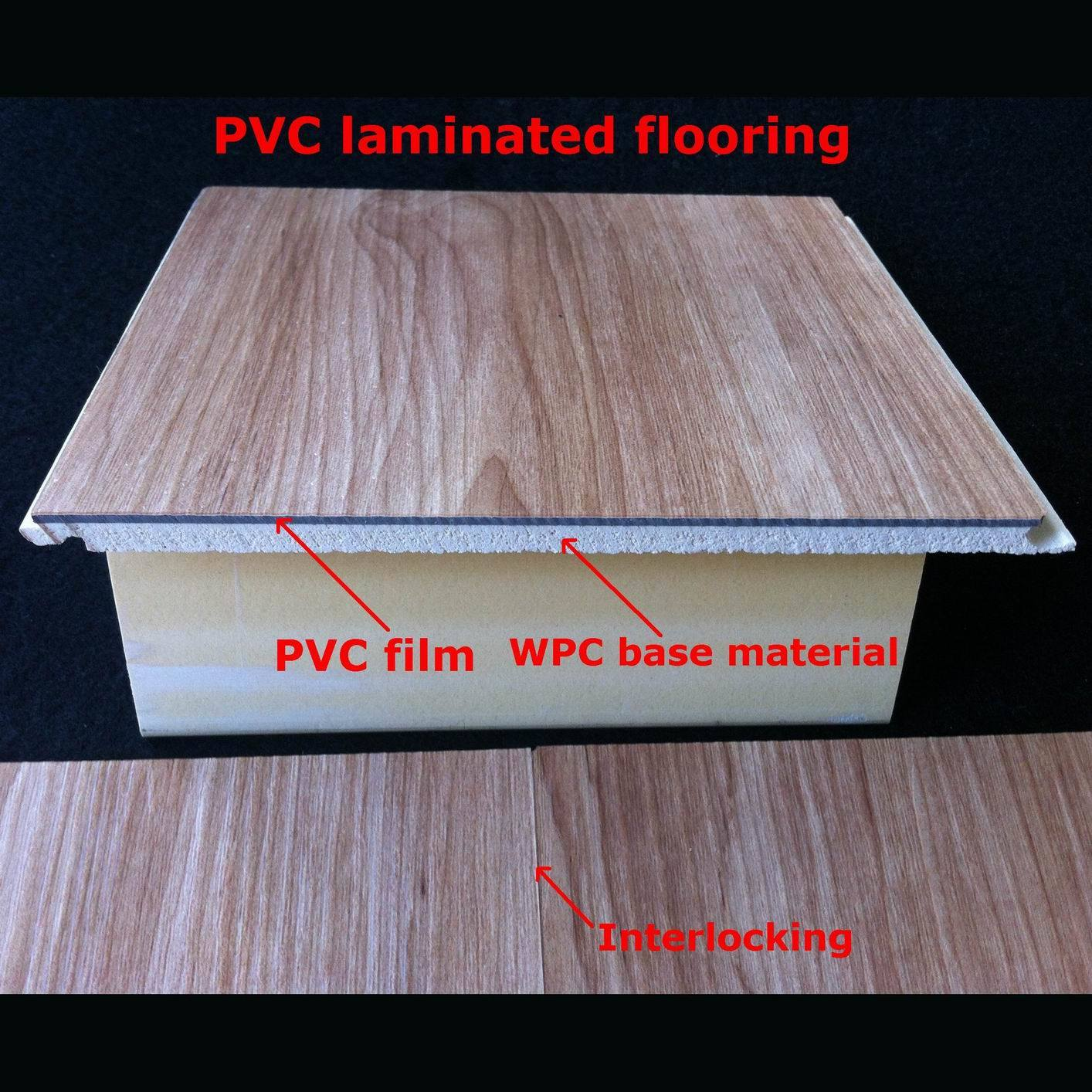 Waterproof Laminate Flooring u bevel dark cherry waterproof laminate flooring glueless with quick lock 7mm Popular Wpc Laminate Flooring Pvc Laminated Flooring Decorative Flooring Waterproof Durable