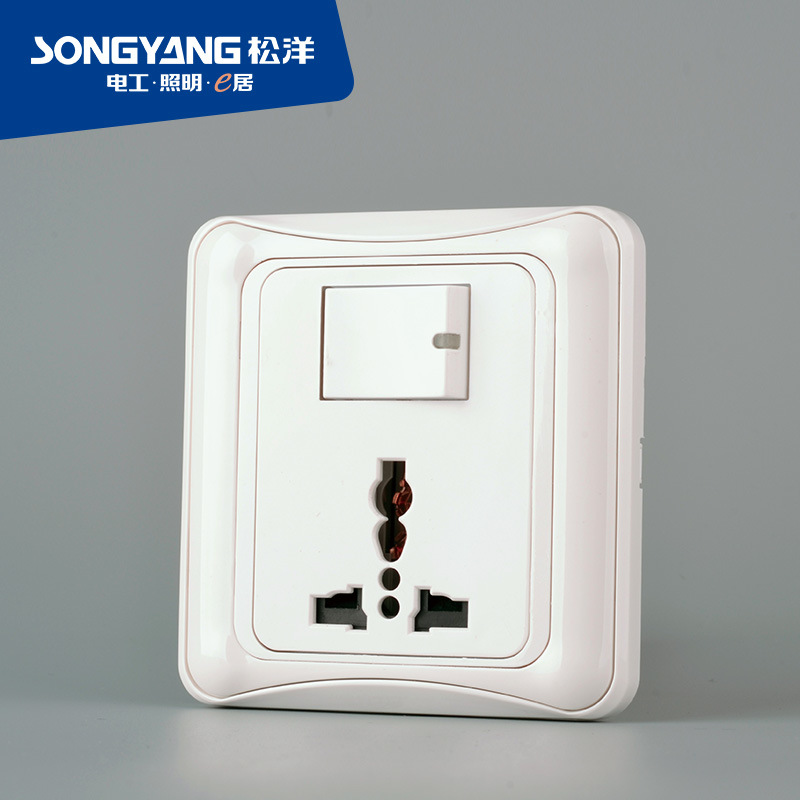 Flame Retardant PC Plastic 1gang Multi Switch Socket
