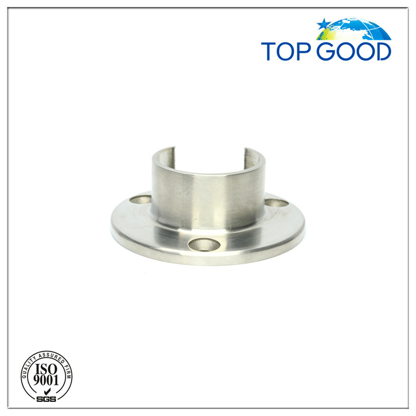 Top Good Stainless Steel for Slot Tube Wall Fixing Plate (53200)