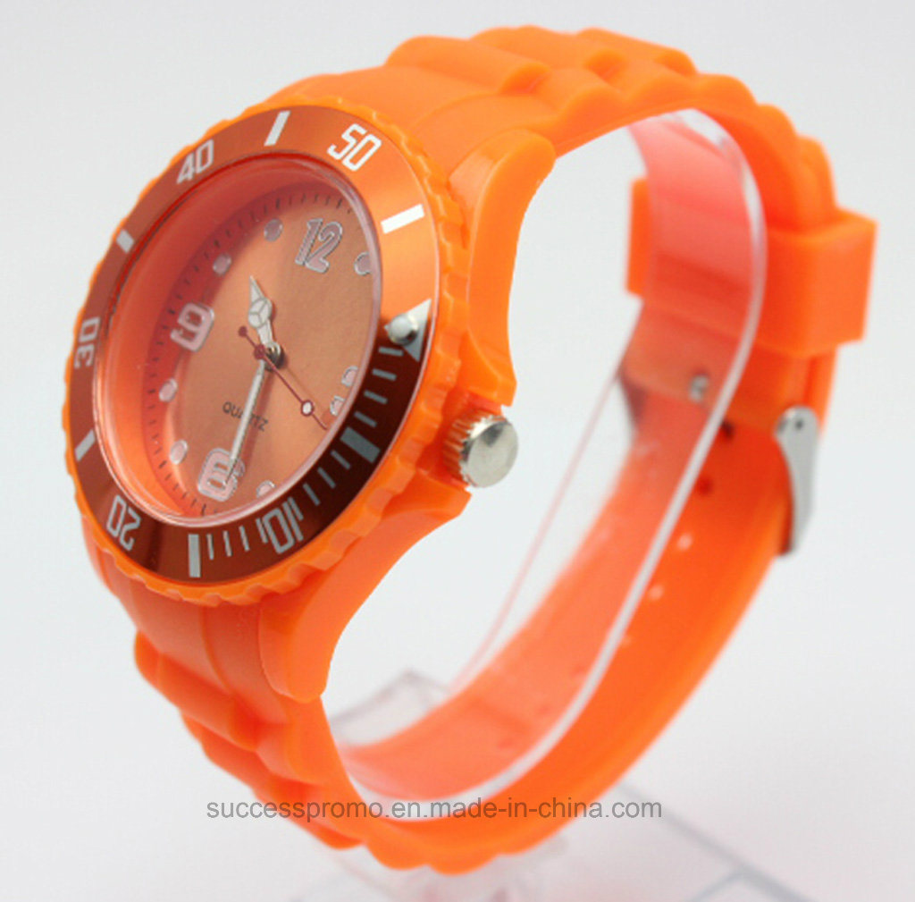Custom Silicone Analog Wristband Watch for Promotion Gift