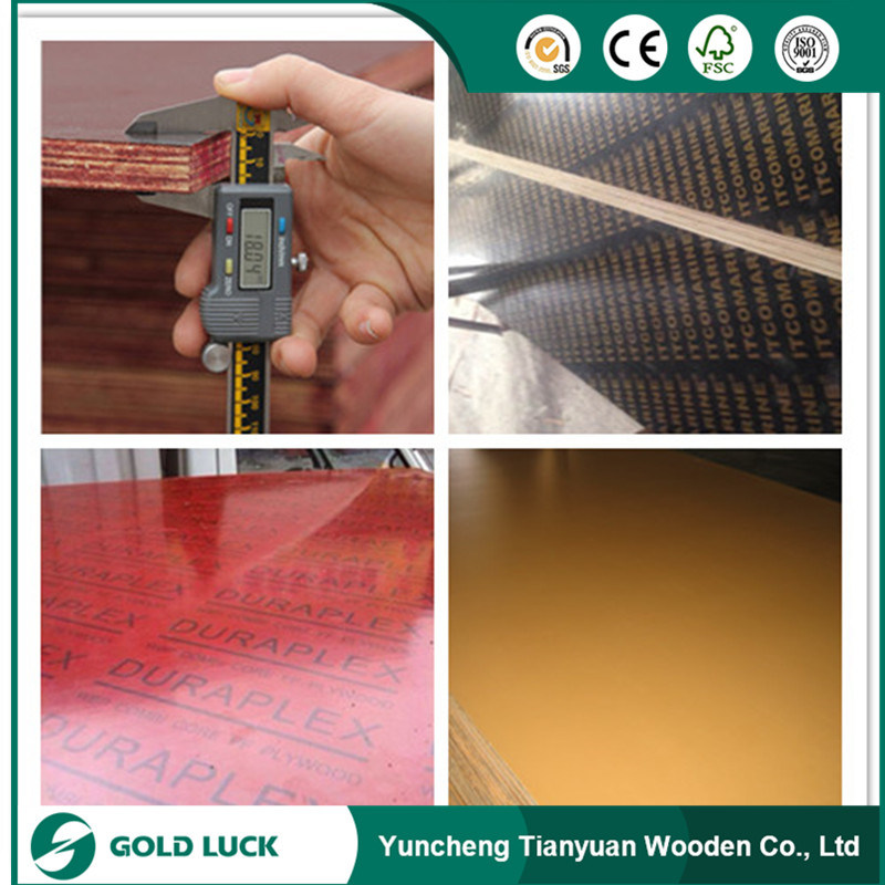 18mm Construction Concrete Formwork Waterproof Film Faced Marine Grade Phenolic Poplar Plywood