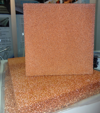 Porous Metal Foam Cu (open cell Copper foam 500mm*500mm)