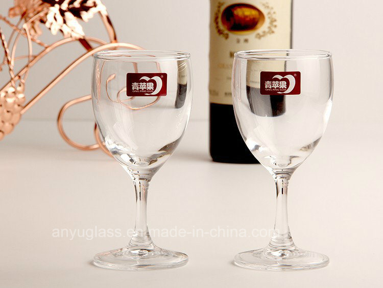 Handmade High Quality Clear Glass Goblet/ Wine Glass