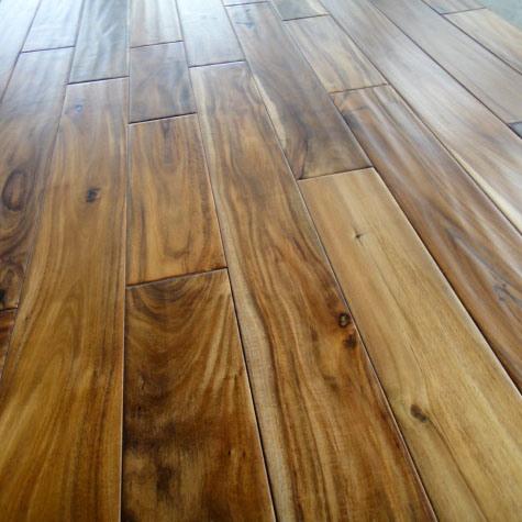 hand scraped acacia wood flooring