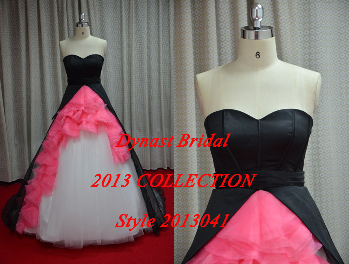 Wedding Dresses With Pink And Black: Hot pink and black bridesmaid ...