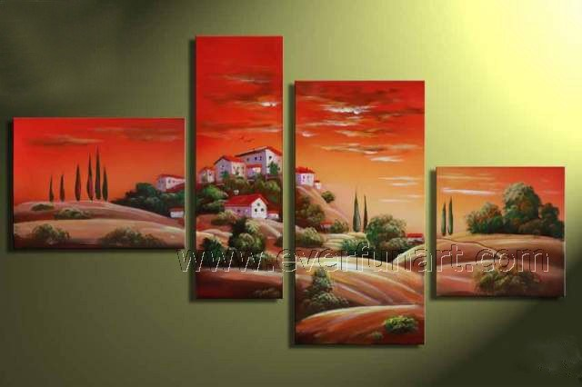 Wall Decoration Hand Painted Desert Landscape Painting (LA4-039)