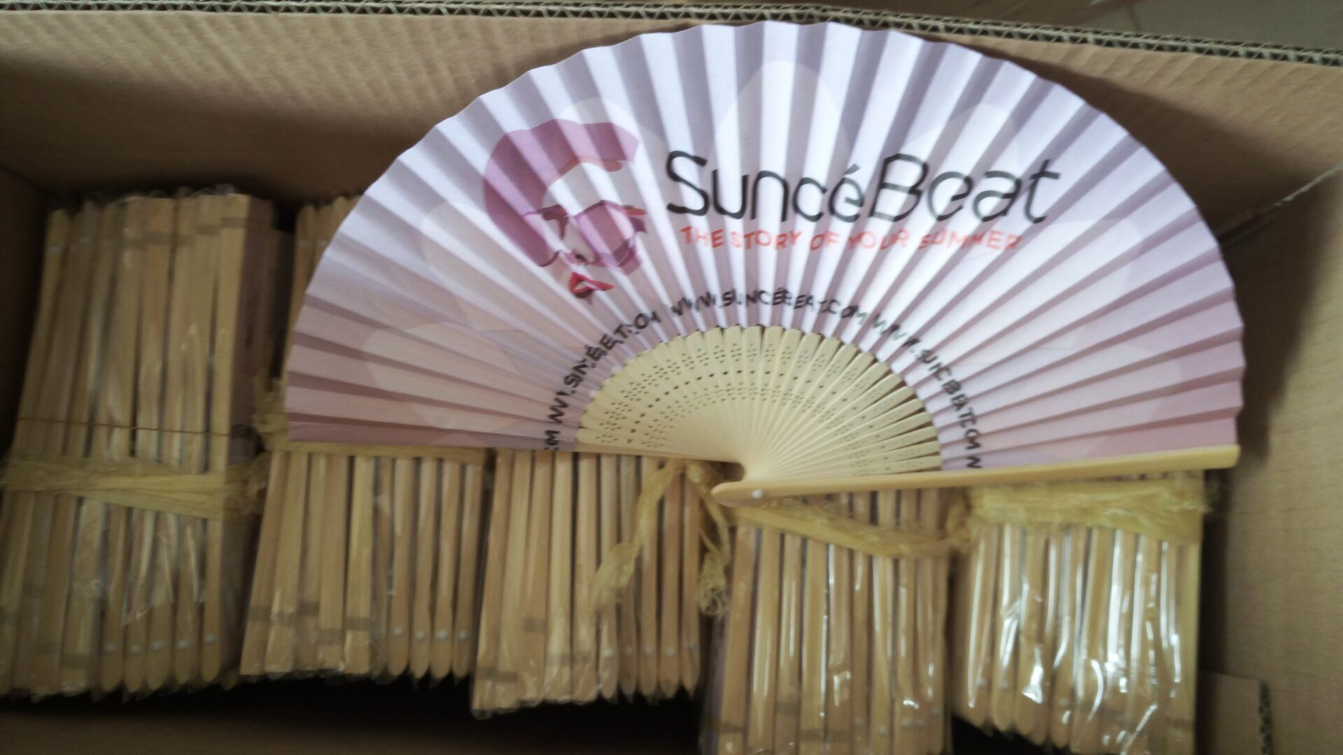 Double Sides Printing Bamboo Paper Hand Fans