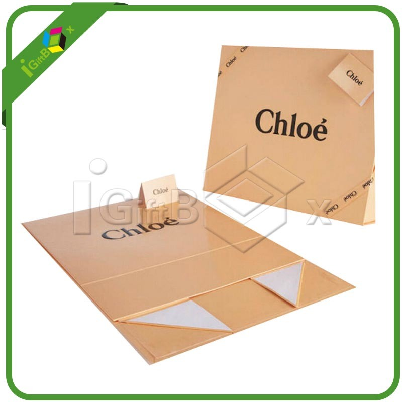 Flat Packed Printing Paper Folding Foldable Folded Cardboard Packaging Storage Gift Box