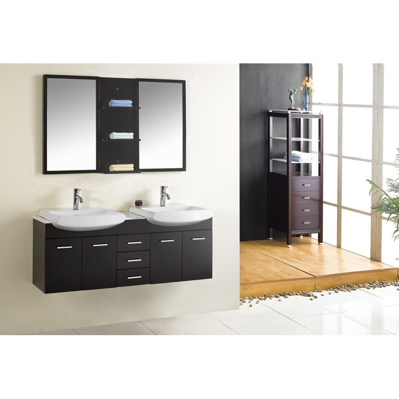 China Modern Double Sink Bathroom Vanity China Bathroom Vanity Cabinet Bat