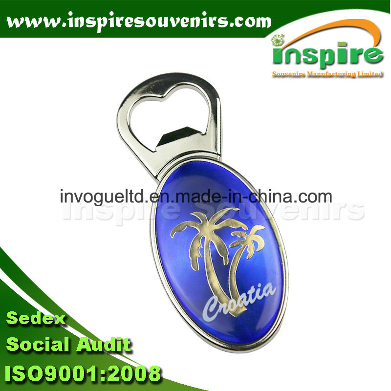 Blue Fridge Magnet with Bottle Opener