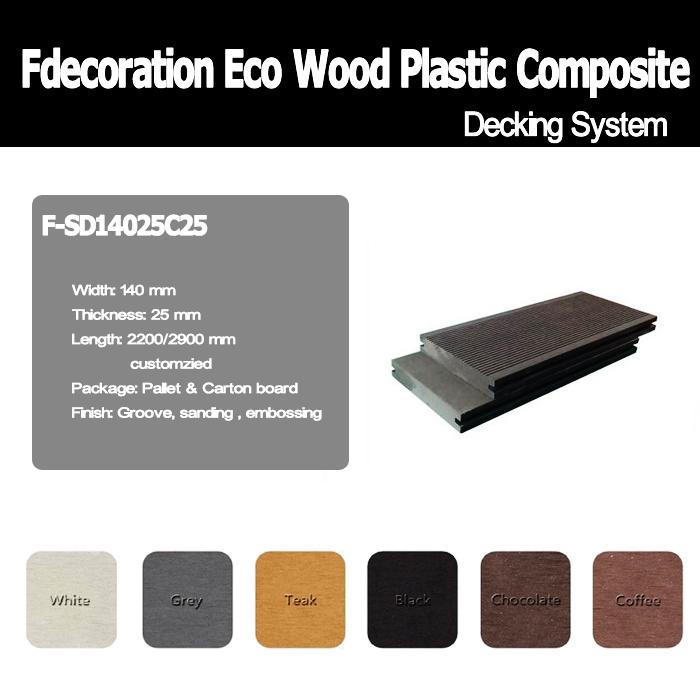 Eco Wood Plastic Composite Decking WPC Flooring