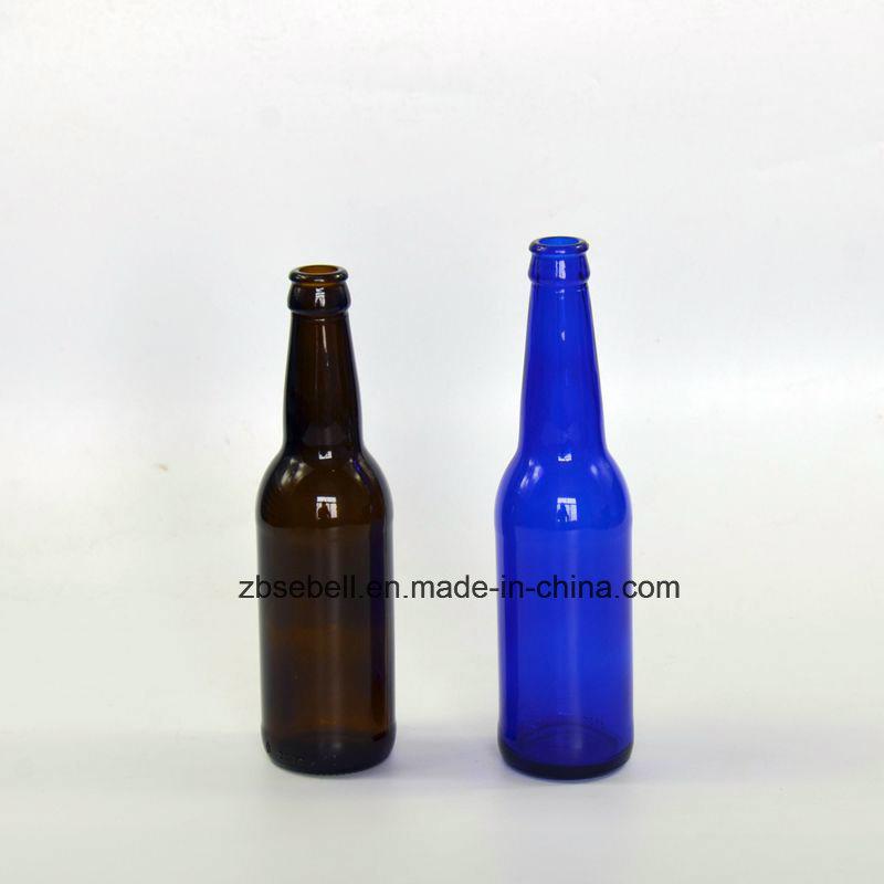 330ml Amber, Blue Color Glass Beer Bottle