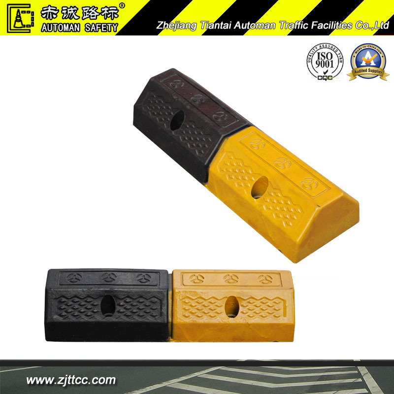Reflective Garages Industrial Rubber Wheel Protector Stops (CC-D02)