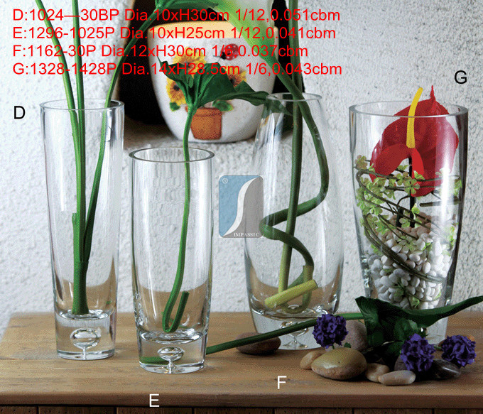 2015 Year China Supplier Home&Garden Flower Glass Vases for Factory Wholesale