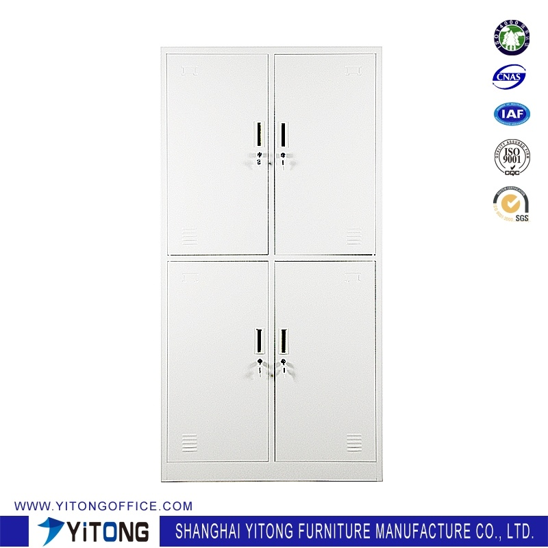 Yitong 4-Door Metal Storage Cabinet / Office Use Steel Locker