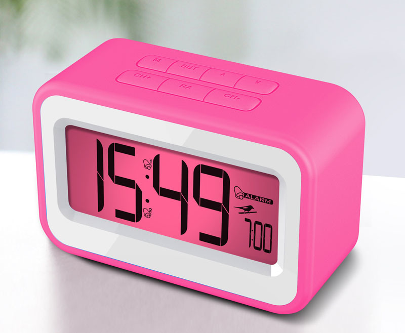 china 2013 new clock digital alarm clock radio with fm radio and silicone outer case r3318. Black Bedroom Furniture Sets. Home Design Ideas