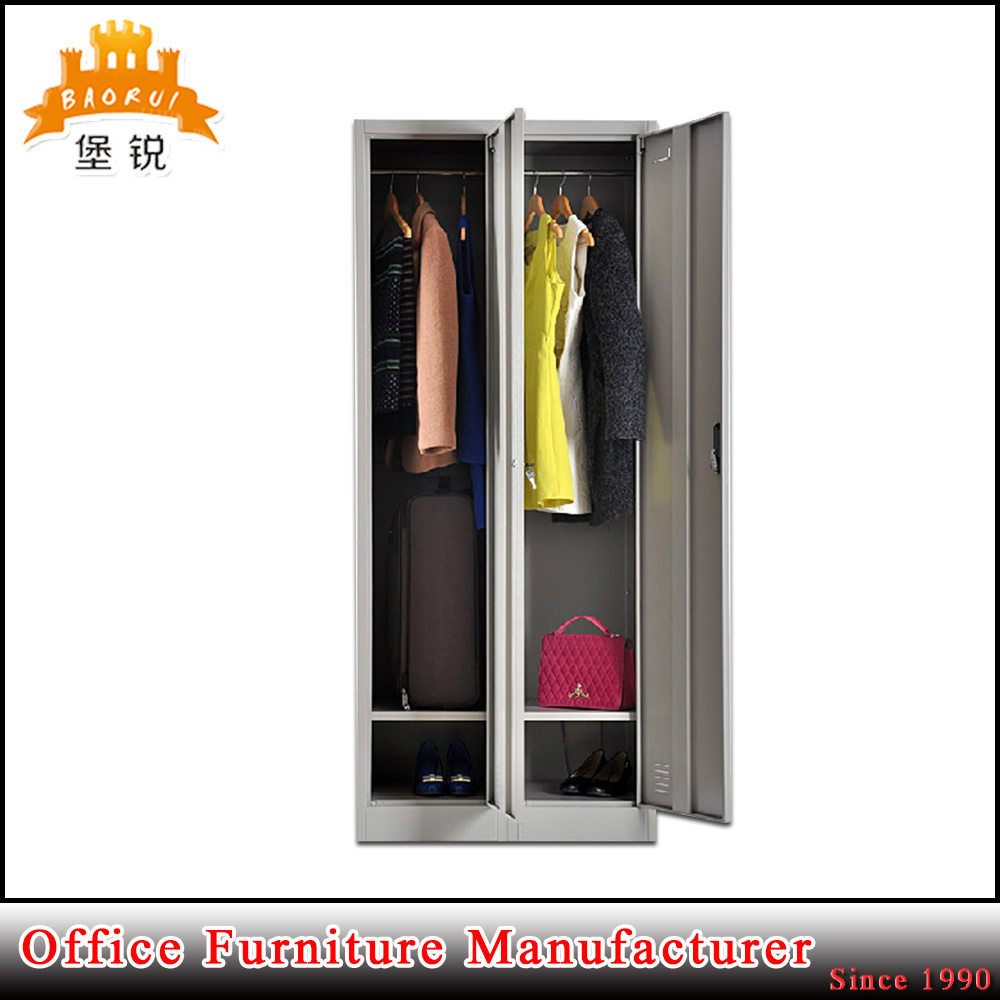 Knock Down Gym Furniture 3 Door Steel Clothes Locker Metal Wardrobe Cabinet