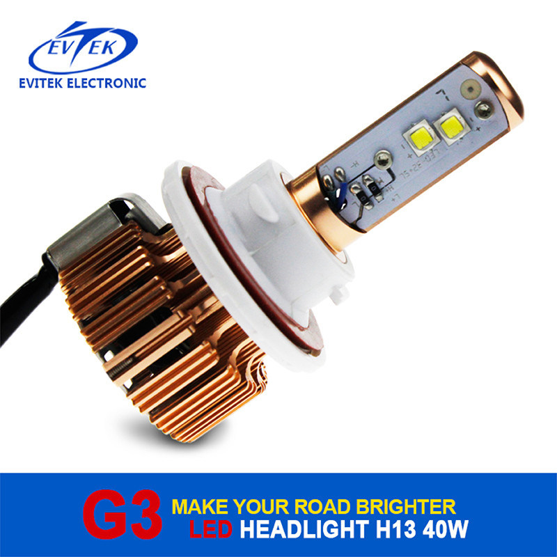 Car LED Fog Lights 40W Car Headlights LED H13 H/L High 3600lm Power Car LED Headlight Bulbs for 6000k Car Replacement Headlamps