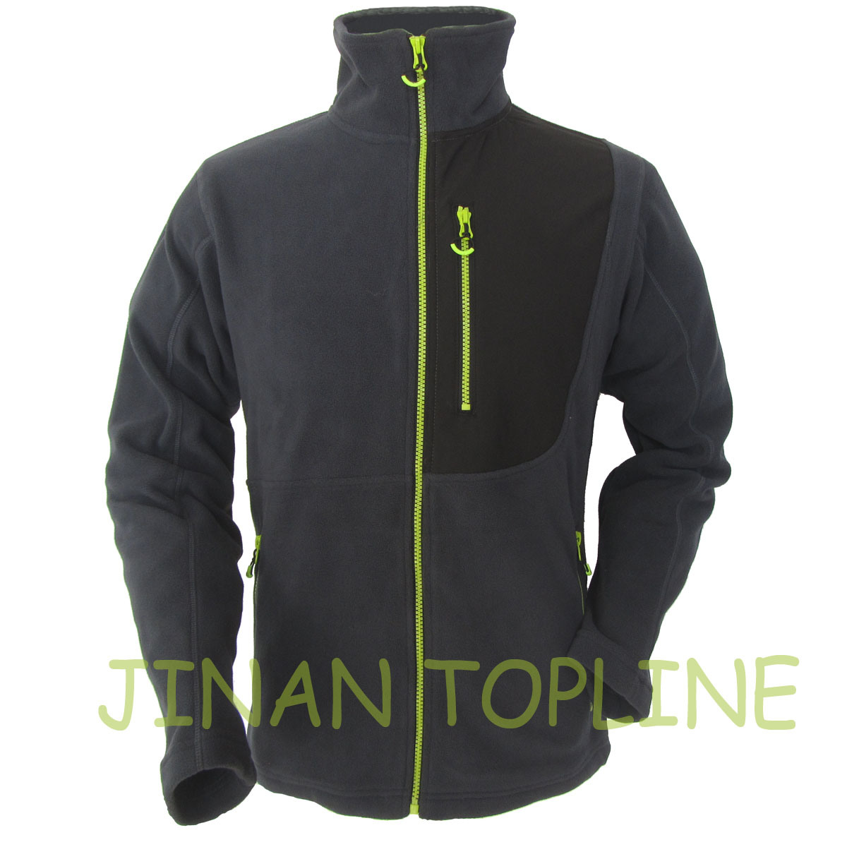 Men Full Zipper Polar Fleece Jacket Micro Fleece