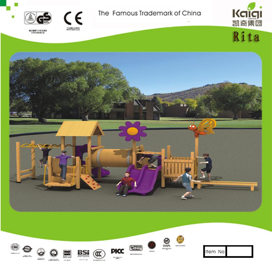 china kaiqi small natural wood children u2032s outdoor playground