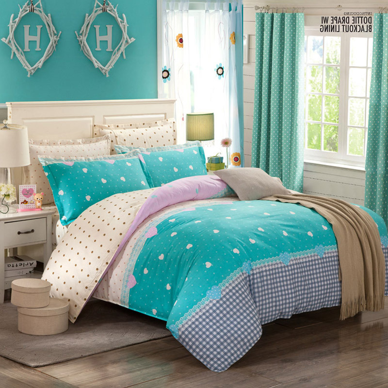 Textile 100% Cotton High Quality Bedding Set for Home/Hotel (Tiffany Blue)