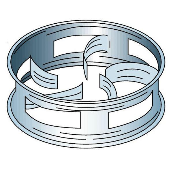 Metal Cascade Mini Ring (CMR) Random Packing