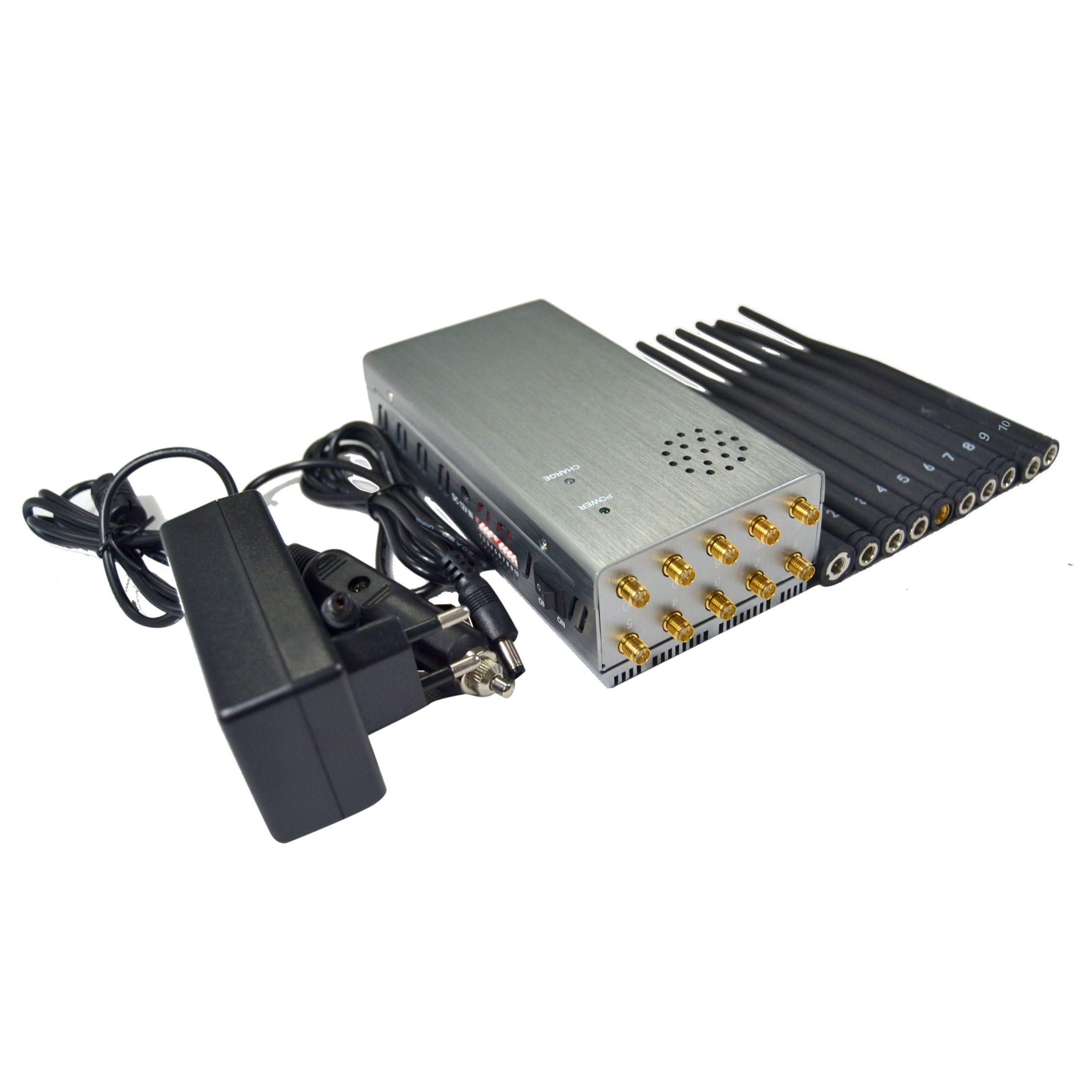 China Large Battery Volume Portable Jammers with 10 Antennas Car Using - China Mobile Phone Jammer, Full Band Signal Blockers