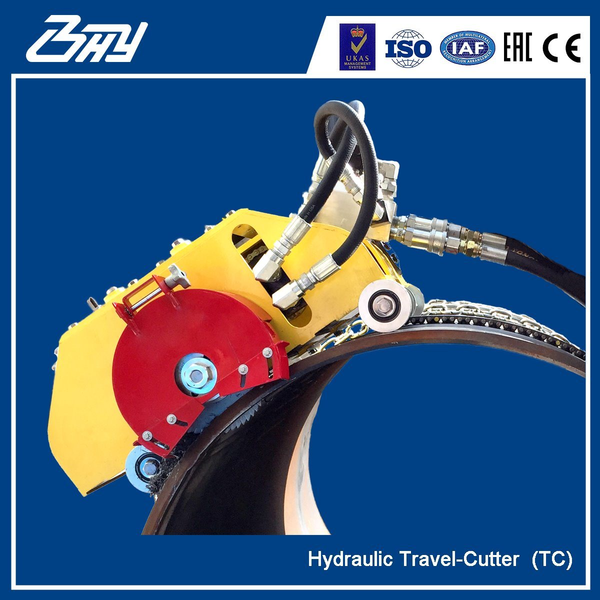 Od-Mounted Portable Hydraulic Travel Cutter/ Climbing Pipe Cutting and Beveling Machine - TC0672