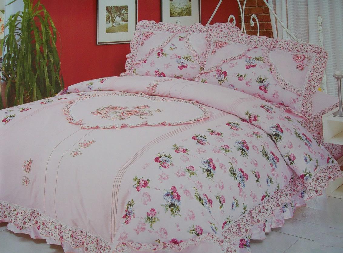 Rose Embroidery Bed Cover Designs Pattern Rose Embroidery