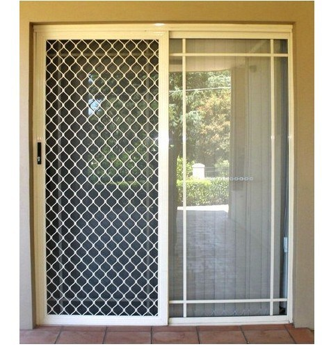 Security screen doors aluminum security screen door for Sliding screen door frame