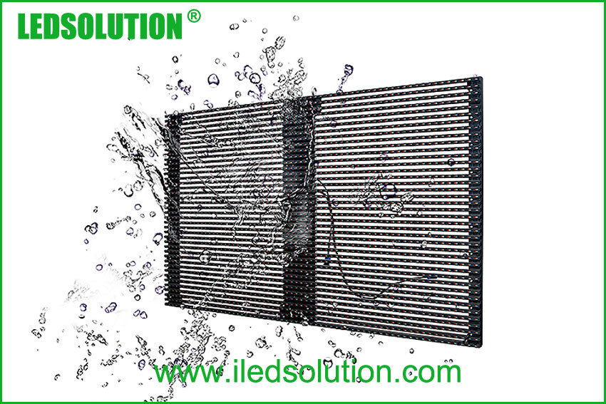 P25 Outdoor Transparent LED Media Facade for Advertising