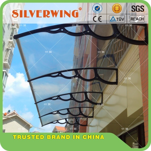 New Door Canopy Awning Shelter Front and Back Door Awning Polycarbonate