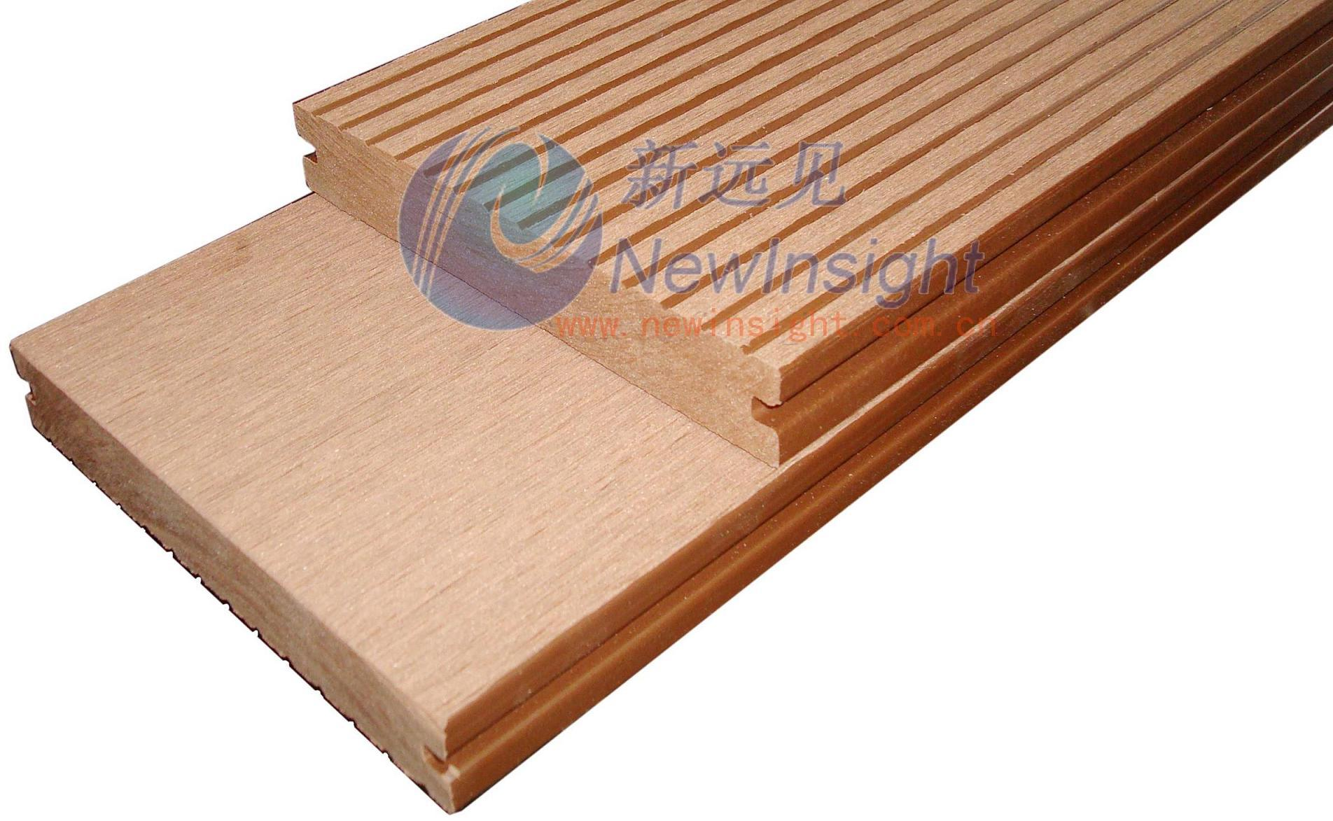 China 146 23mm wpc decking decking wood plastic for Plastic composite decking