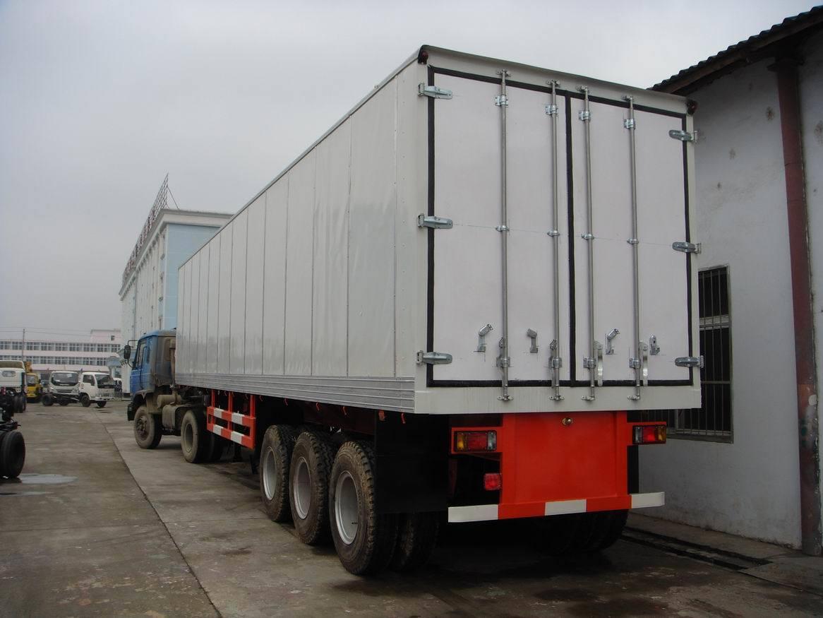 Semi Truck Refrigerators : China axle refrigerator semi trailer cbm
