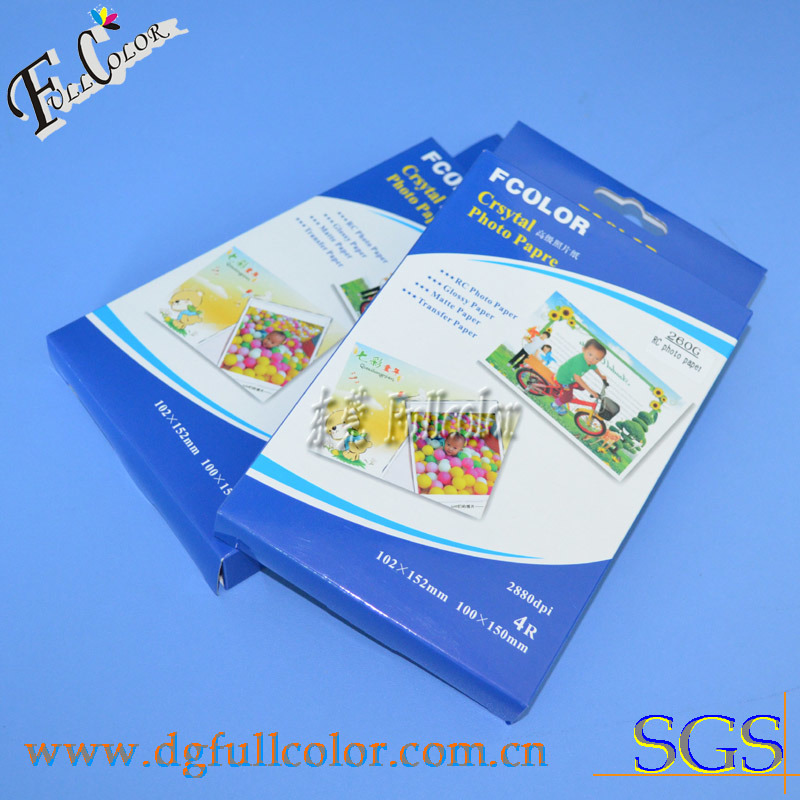RC Glossy Photo Paper for A4 4r Size 260g 20 Sheets a Lot