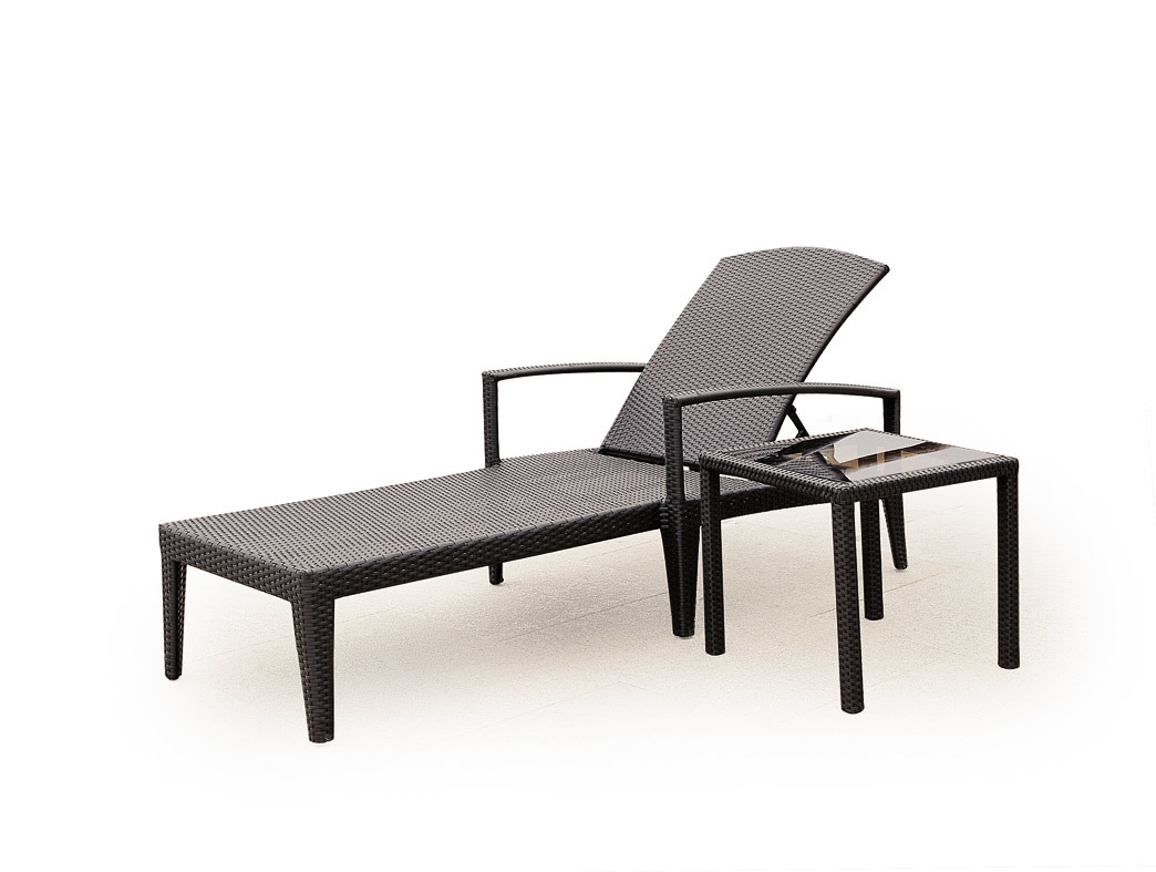 china outdoor beach furniture rattan chaise lounger bz. Black Bedroom Furniture Sets. Home Design Ideas