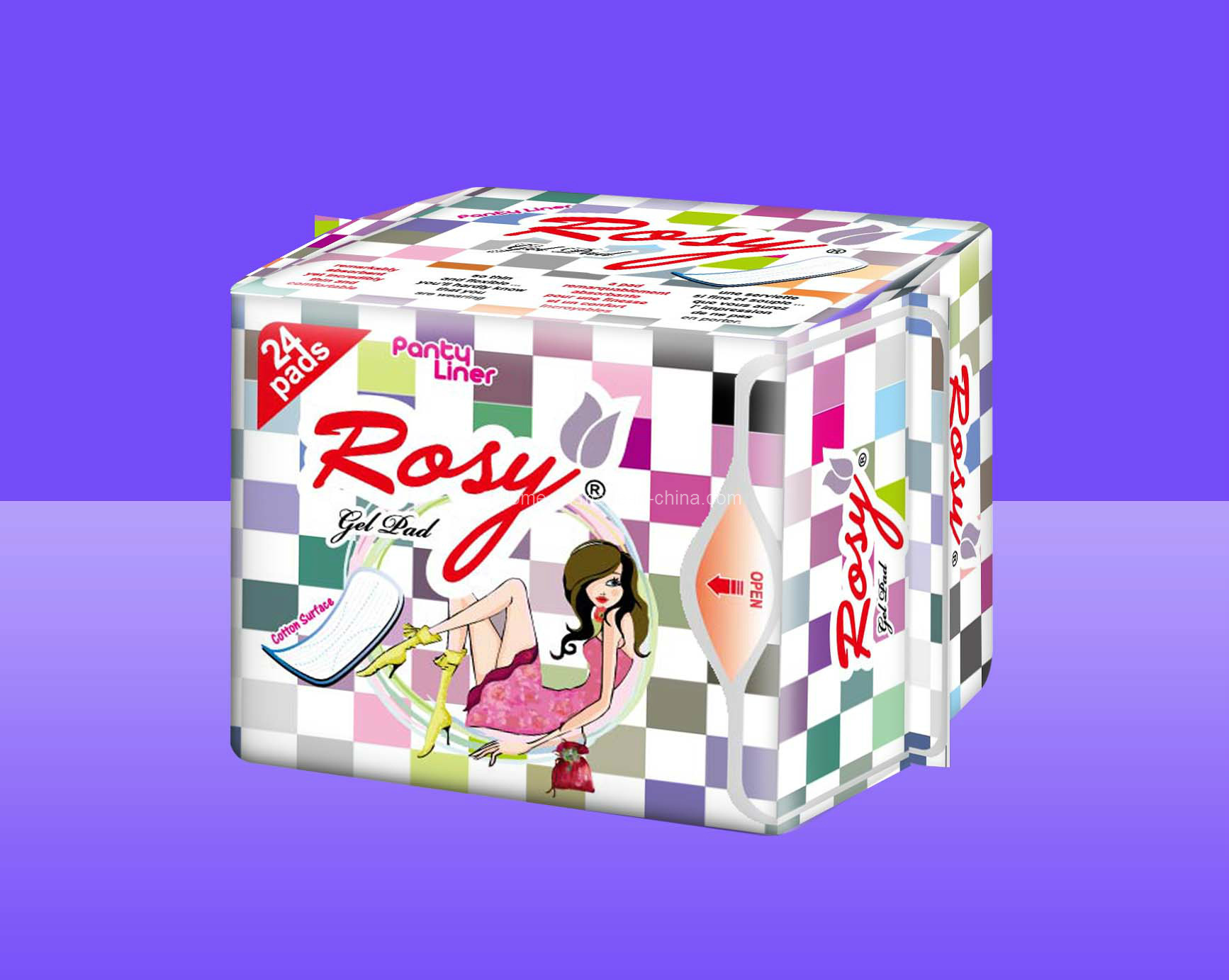 Reathable Sanitary Pad / Panty Liners Rosy Panty Liner