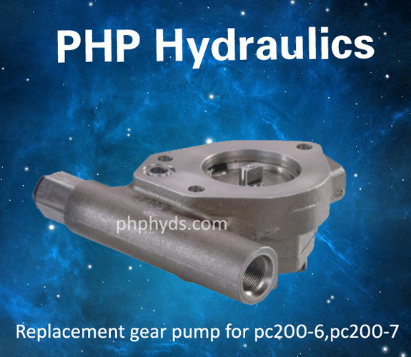 Gear Pump, Pilot Pump, Charge Pump for Komatsu PC220-6 Excavator Hydraulic Pump Hpv95