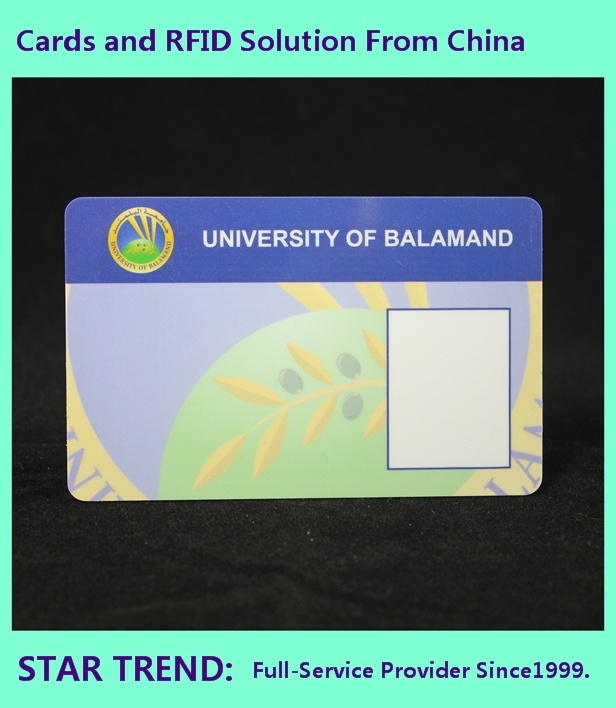 ID Card with Magnetic Strip and Signature for Guard