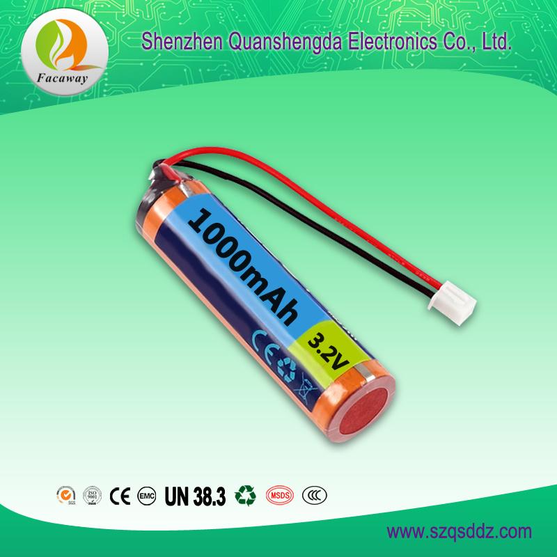 3.2V 1000mAh 18650 Li-ion Battery China