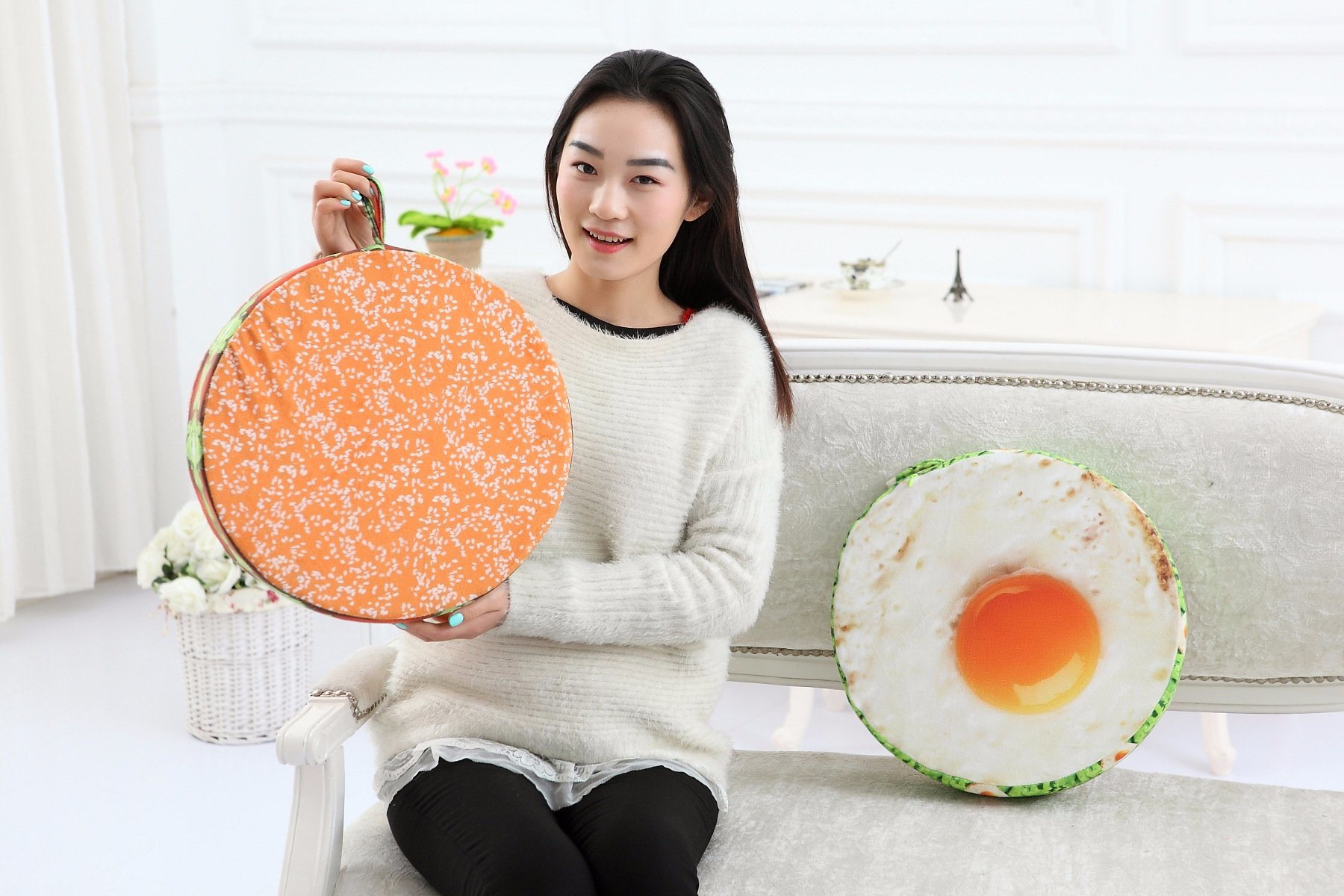 Popular Sofa Cushion Funny Fruit Design Cushioncover Office Back Cushion