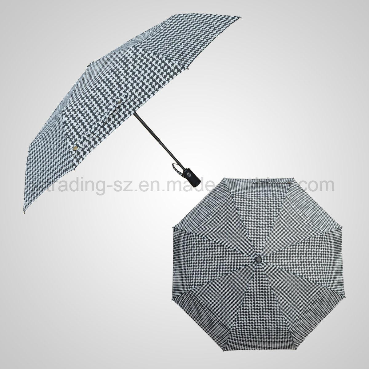 Automatic Open&Close 3 Folding Umbrella Rain Umbrella (JF-APC302)