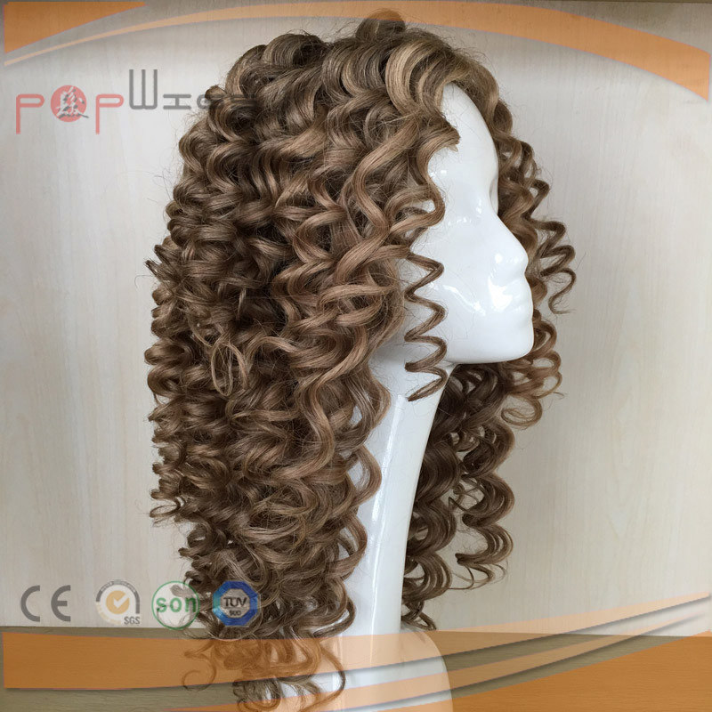 Full Hand Tied All Poly Coated Tight Curly Women Lace Wig