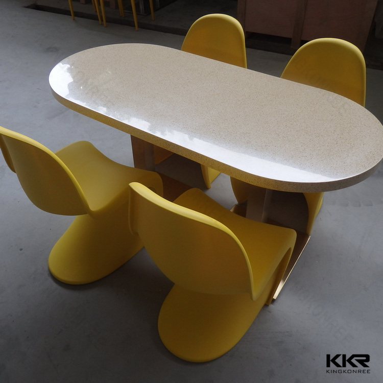 Modern Hotel Table Customized Solid Surface Dining Table