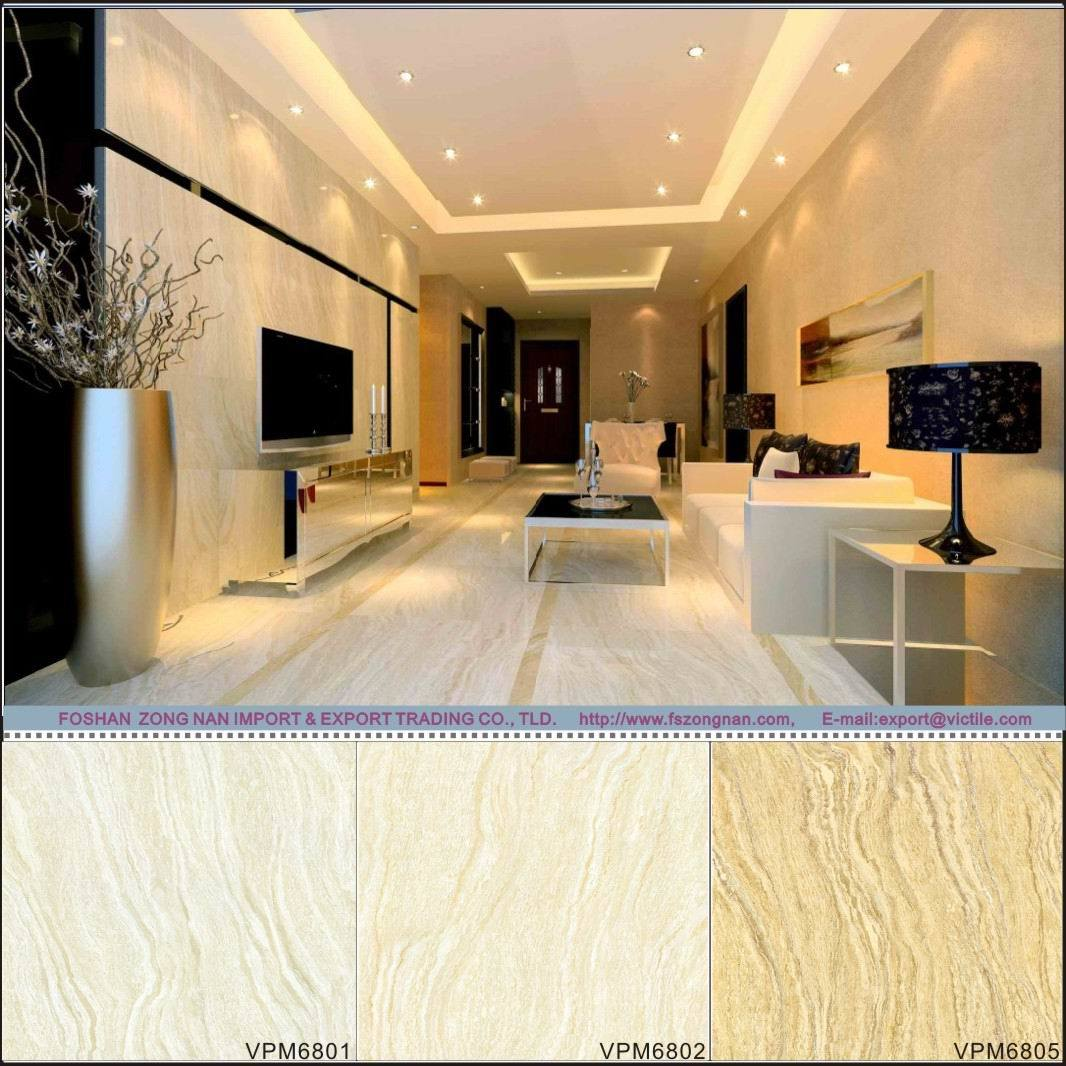 Polished Porcelain Stone Floor Tile (VPM6801 600X600mm)