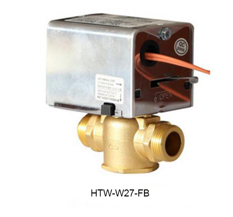 2 Port 3 Way Hydronic Motorised Heating Zone Valves (HTW-W27-F)