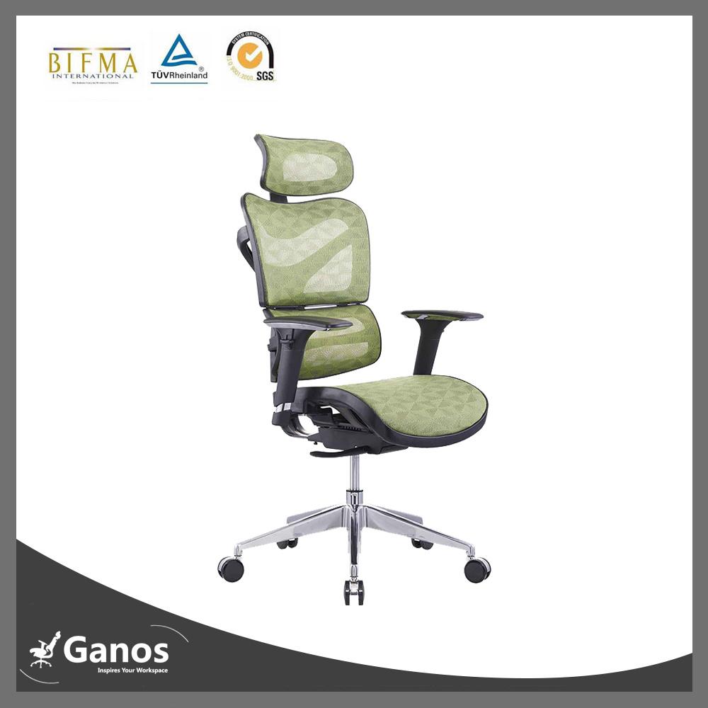 Nylon Frame High Back Green Mesh Office Chair