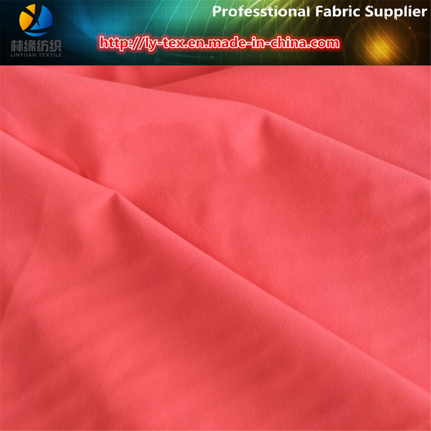 Prompt Goods of Polyester 4 Ways Stretch Fabric, Polyester Elastic Woven Textile Fabric