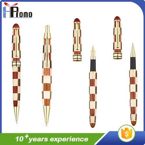 Handmade Clip Wooden Ball Pen