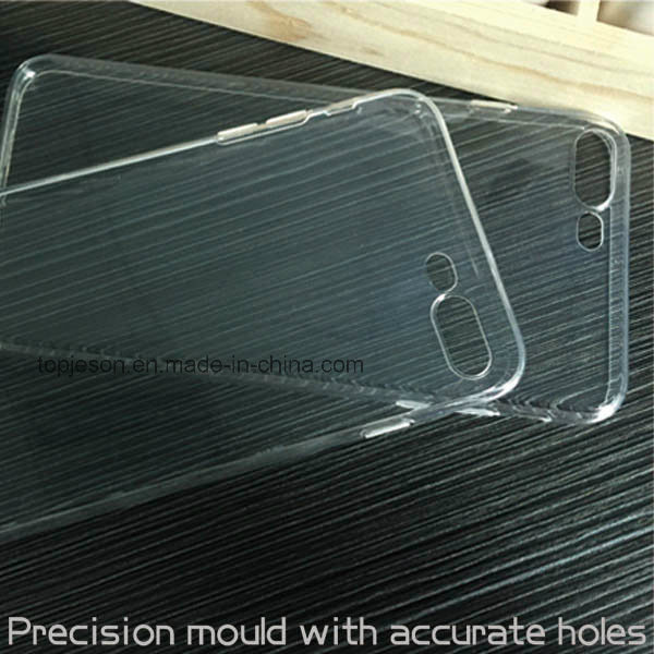 Ultra Thin High Quality and Clear Full Covered Soft TPU Mobile Phone Case for iPhone 7 Plus